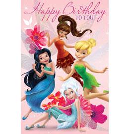 Birthday Card Disney Fairies