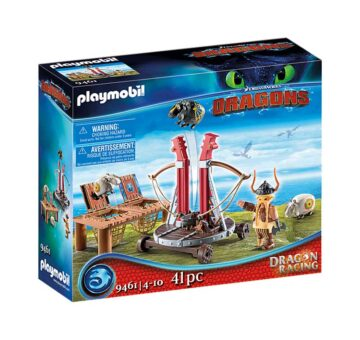 Playmobil Dragon Racing: Gobber The Belch With Sheep Sling 9461