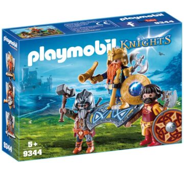 Playmobil Dwarf King With Guards 9344