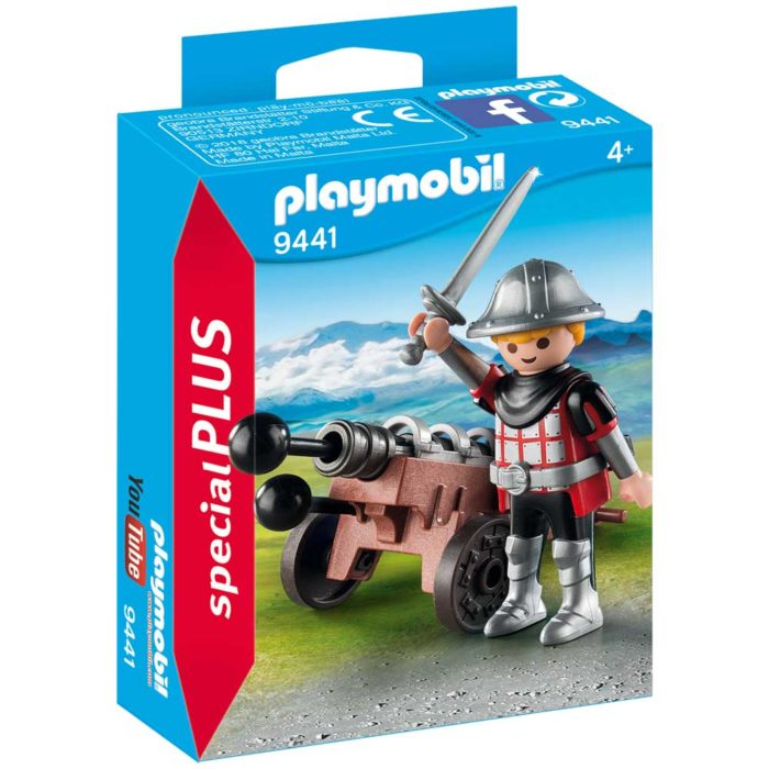 b65596b7591 Playmobil Special Plus Knight With Cannon 9441 - Storvyn Kids