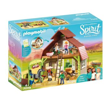 Playmobil Barn With Lucky, Pru & Abigail 70118