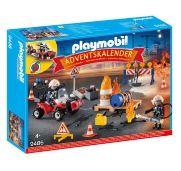 Playmobil Advent Calendar - Construction Site Fire Rescue 9486