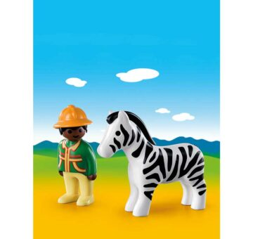 Playmobil 123 Ranger With Zebra 9257