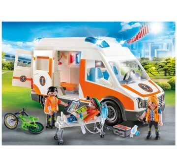 Playmobil Ambulance With Flashing Lights 70049