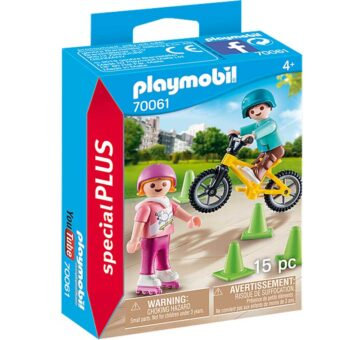 Playmobil Special Plus - Children With Skates And Bike 70061