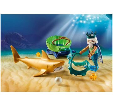 Playmobil King Of The Sea With Shark Carriage 70097