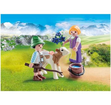 Playmobil Special Plus - Children With Calf 70155