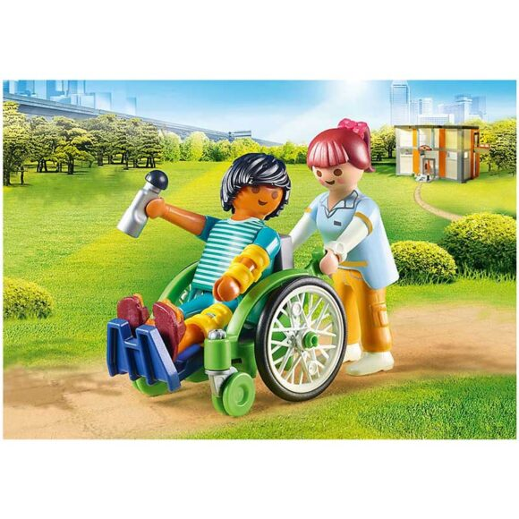 Playmobil Patient In Wheelchair 70193