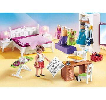 Playmobil Bedroom With Sewing Corner 70208