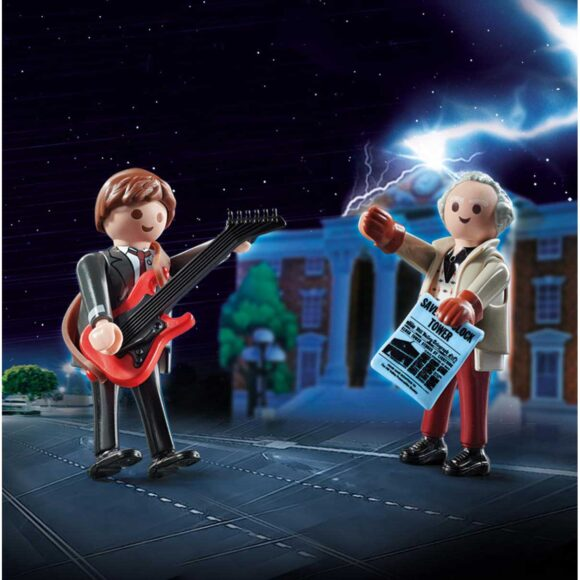 Playmobil Back To The Future Marty Mcfly And Dr. Emmet Brown 70459