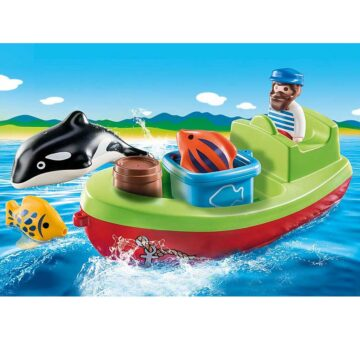 Playmobil 123 Fisherman With Boat 70183