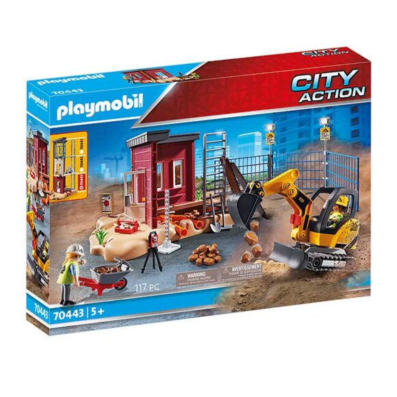 Playmobil Mini Excavator With Building Section 70443