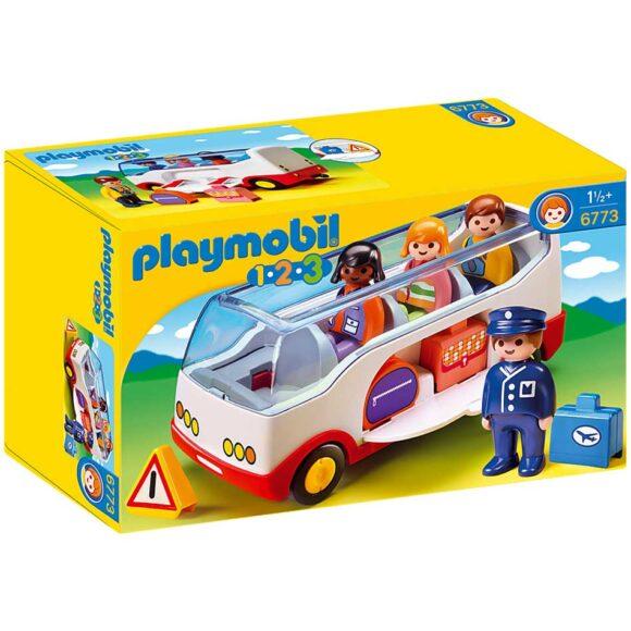 Playmobil 1.2.3 Airport Shuttle Bus 6773