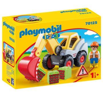 Playmobil 1.2.3 Shovel Excavator 70125