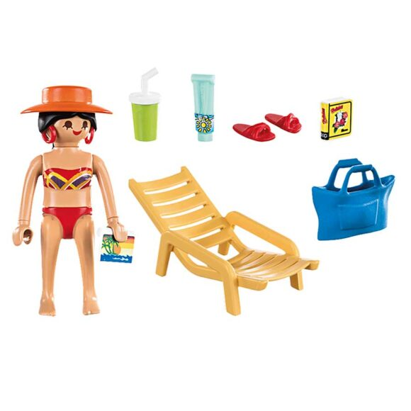 Playmobil Special Plus - Sunbather With Lounge Chair 70300