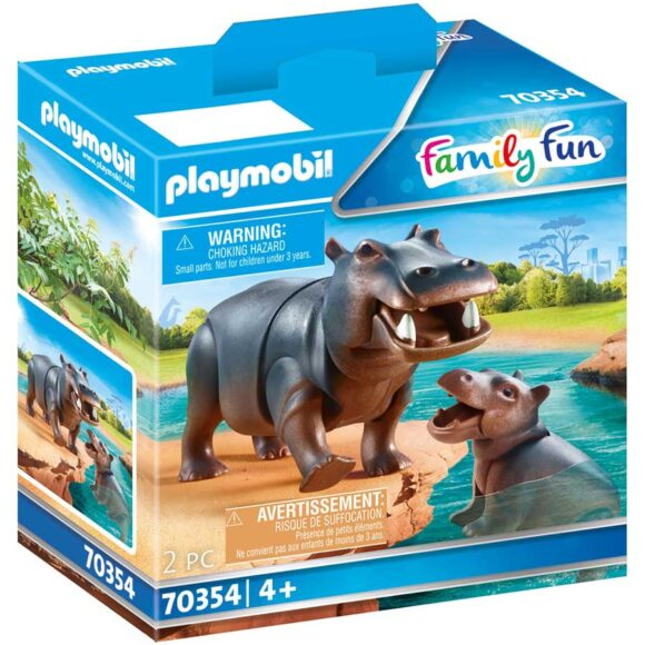 Playmobil Hippo With Calf 70354