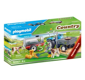 Playmobil Loading Tractor With Water Tank 70367