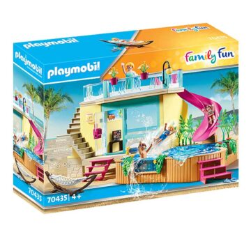 Playmobil Bungalow With Pool 70435