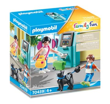 Playmobil Tourists With ATM 70439