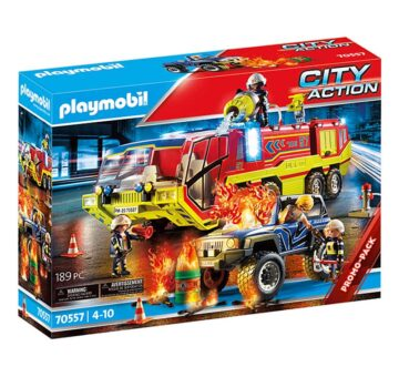 Playmobil Fire Engine With Truck 70557