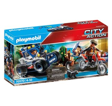 Playmobil Police Off-Road Car With Jewel Thief 70570