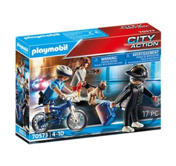 Playmobil Police Bicycle With Thief 70573