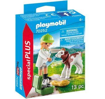 Playmobil Special Plus - Vet With Calf 70252