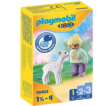Playmobil 1.2.3 Fairy Friend With Fawn 70402