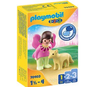 Playmobil 1.2.3 Fairy Friend With Fox 70403
